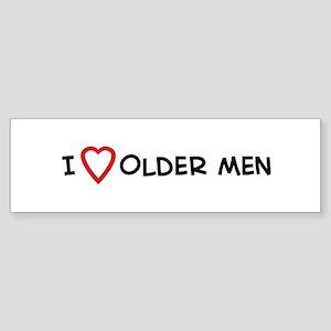 I Love Older Men Bumper Sticker
