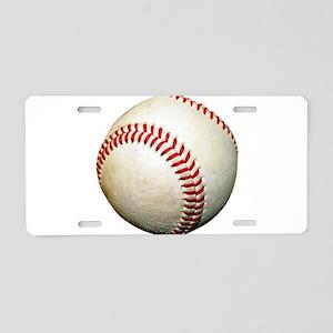 A Baseball Aluminum License Plate