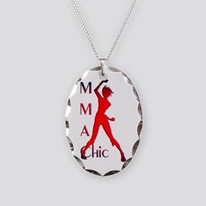 MMA Chic Necklace Oval Charm