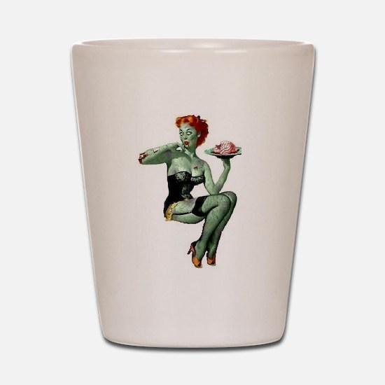 zombie pin-up girl Shot Glass