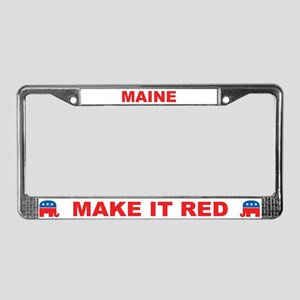 Maine Make it Red License Plate Frame