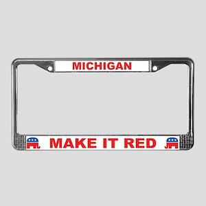 Michigan Make it Red License Plate Frame