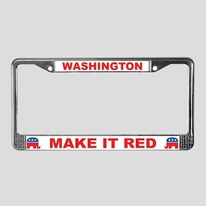 Washington Make it Red License Plate Frame
