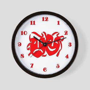 Masks Wall Clock