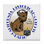 California Historical Radio S Tile Coaster