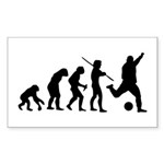 Soccer Evolution Sticker (Rectangle)