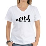 Soccer Evolution Women's V-Neck T-Shirt
