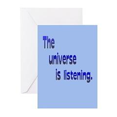 Universe Listening/Don't Break Wind Greeting Cards
