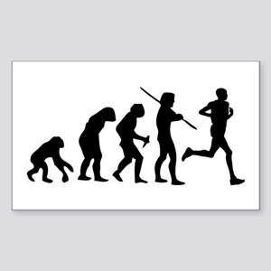 Running Evolution Sticker (Rectangle)