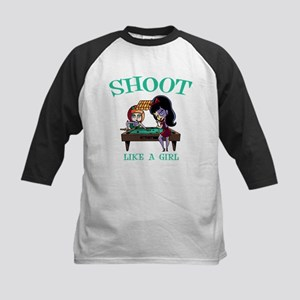 Shoot Like a Girl Kids Baseball Jersey