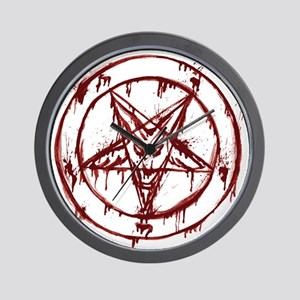 mY BLoODy pENTaGraM Wall Clock