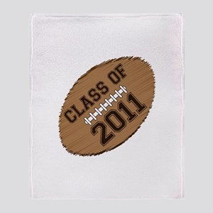 Class of 2011 Football Throw Blanket