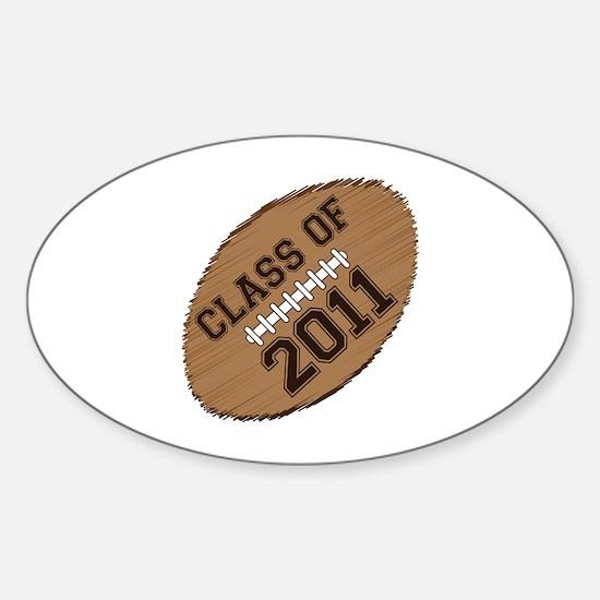 Class of 2011 Football Sticker (Oval)