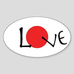 JapanInLove Sticker (Oval)