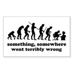 Something, somewhere went ter Sticker (Rectangle 1