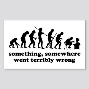 Something, somewhere went ter Sticker (Rectangle)