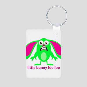 Little Bunny Foo Foo Aluminum Photo Keychain