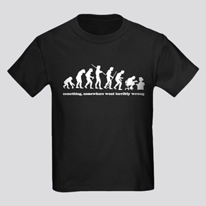 Something, somewhere went ter Kids Dark T-Shirt