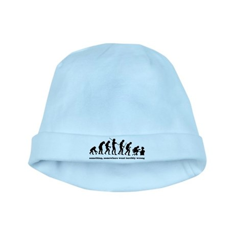 Something, somewhere went ter baby hat