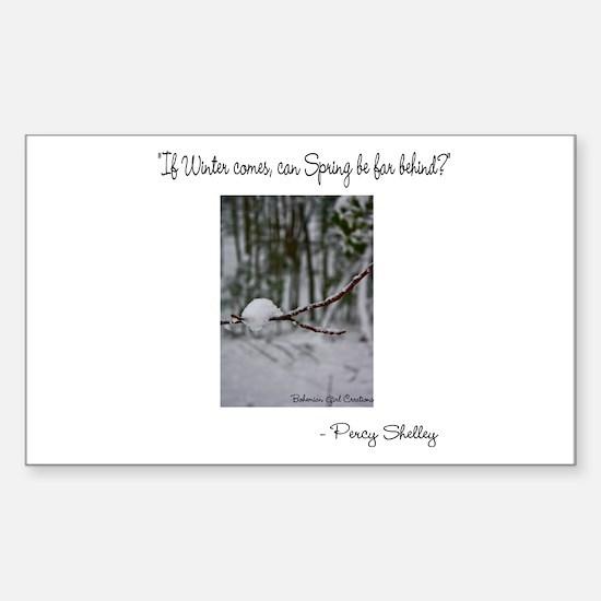 Unique Tree poem Sticker (Rectangle)