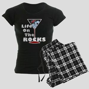 On Rocks Martini Women's Dark Pajamas