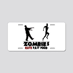Funny Zombies Aluminum License Plate