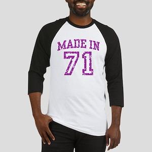 Made in 71 Baseball Jersey