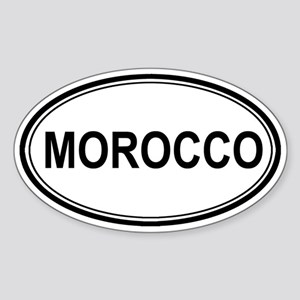 Morocco Euro Oval Sticker