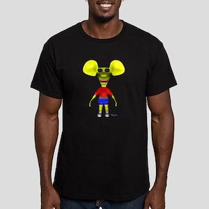 3D Ratboy Genius Men's Fitted T-Shirt (dark)