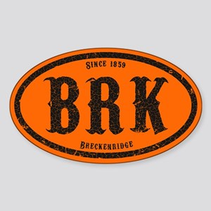 Breckenridge Colorado Sticker (Oval)