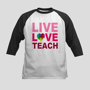 Live Love Teach Autism Kids Baseball Jersey