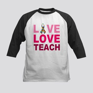Live Love Teach Autism Kids Baseball Jersey