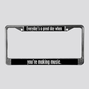Music License Plate Frame