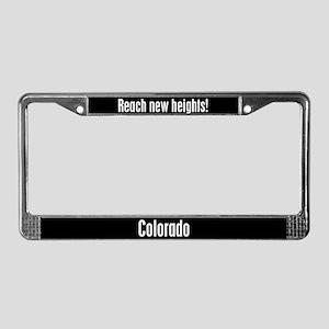 Colorado Reach New Heights License Plate Frame