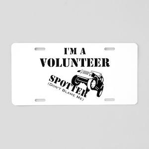 Volunteer Spotter Aluminum License Plate