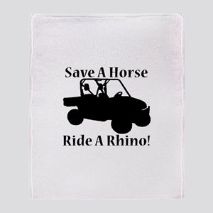 Save a Horse Throw Blanket