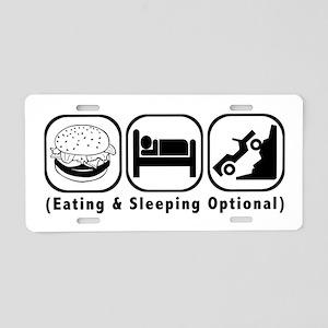 Eat Sleep Crawl Aluminum License Plate