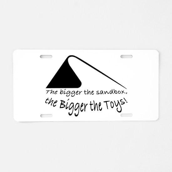 Bigger the Sandbox Aluminum License Plate