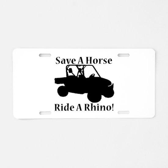 Save a Horse Aluminum License Plate