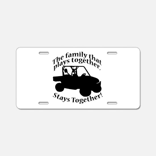 Family Plays Aluminum License Plate
