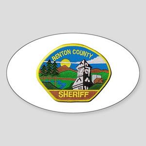 Benton County Sheriff Sticker (Oval)