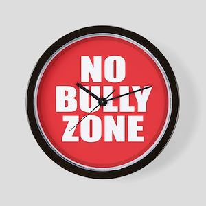 No Bully Zone Wall Clock