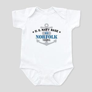 US Navy Norfolk Base Infant Bodysuit