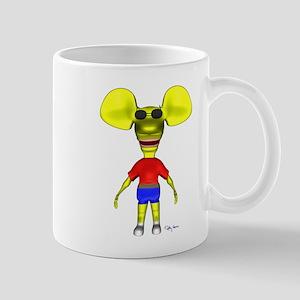 Vintage 3D Ratboy Genius Mug
