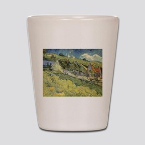Van Gogh Thatched Cottages Shot Glass