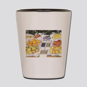 Fruit Stand by Caillebotte Shot Glass