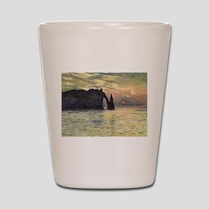Claude Monet, Cliff Etretat Sunset Shot Glass