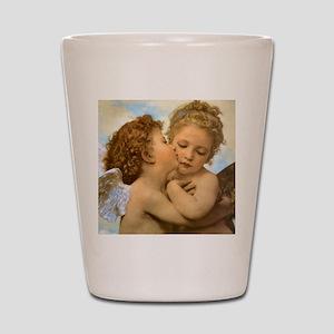 First Kiss by Bouguereau Shot Glass