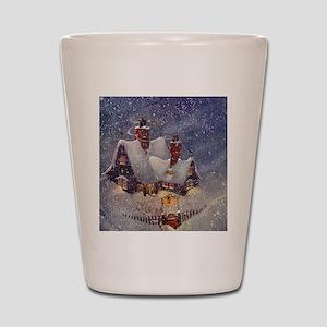 Vintage Christmas North Pole Shot Glass