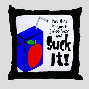 Juice Box Suck It Throw Pillow